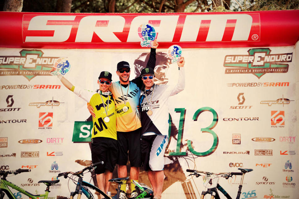 SRAM XX1 and Avid X0 Trail Brakes sweep the top two steps of the podium at the first ever Enduro World Series and  SRAM Superenduro in Punta Ala, Italy