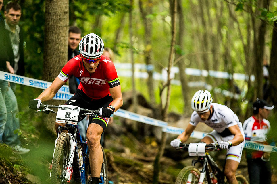 Kulhavy and Schurter battle for the win